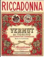 ETICHETTA - LABEL - RICCADONNA VERMUT DI TORINO - VERMOUTH - CANELLI - Etiketten
