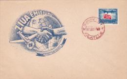 PLANES, CGM CONGRESS, COVER FDC, 1947, ROMANIA - Airplanes