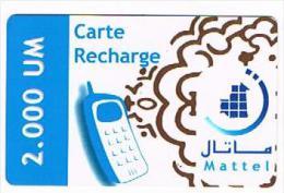 MAURITANIA   - MATTEL (GSM RECHARGE) - PHONE  2000     - USED  -  RIF. 8059 - Mauritania
