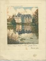 MENU Paquebot S.S.DE GRASSE 10 Juin 1933-Croisière  Cie Gle TRANSATLANTIQUE FRENCH LINE Illustration G.PLASSE :  Azay - Menus