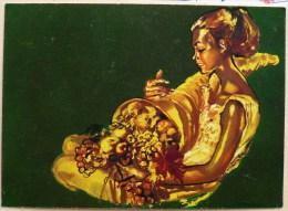 Litho Art Nouveau Femme En Or De Raymont Brenot Corne D Abondance De La Loterie Nationale Edition Dufournet - Jeux Régionaux