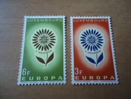 Luxemburg:  MiNr 697-698 Europa 1964 - Luxembourg