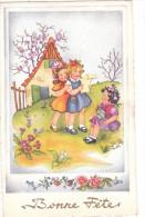 Carte Postale Ancienne Fantaisie Illustrée - Fillettes - Bonne Fête - Fantasia
