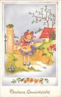 Carte Postale Ancienne Fantaisie Illustrée - Fillettes - Heureux Anniversaire - Fantasia