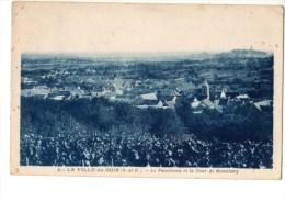C P A-C P S M-------91---------LA VILLE-DU-BOIS--le Panorama Et La Tour De Monthéry-----voir 2 Scans - Autres Communes