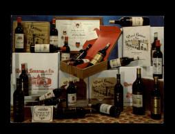 33 - BRANNE - Carte Pub Vins Marcel Bonneau - France