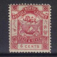 W318 - BORNEO DEL NORD 1889 , 6 Cent  Yvert N. 40  ***  MNH - Borneo Del Nord (...-1963)