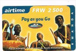 RWANDA  -  MTN RWANDACELL (GSM RECHARGE) -  DRUMS 2500 EXP. 31/12/2002      - USED   -  RIF. 8072 - Rwanda