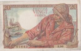Billet 20fr 07/10/1943 - 20 F 1942-1950 ''Pêcheur''
