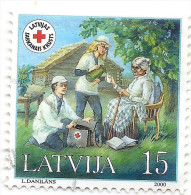 2000 Latvia Lettland Lettonie  MEDICINE Red Cross1v Mi 533 Used Stamp (0) - Lettonie