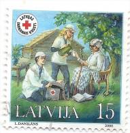 2000 Latvia Lettland Lettonie  MEDICINE Red Cross1v Mi 533 Used Stamp (0) - Latvia