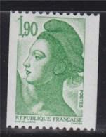 = Type Liberté De Gandon, D'après Delacroix  1.90f  Vert  De Roulette Neuf N°2426a Au Verso N°505 Rouge - Rollen