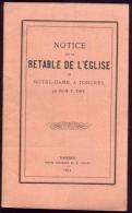 Notice Sur Le Retable De Notre Dame De Tongres- 1874. - Belgium
