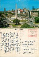 Avenida Nueva De Julio, Buenos Aires, Argentina Postcard Posted 1969 Meter - Argentina