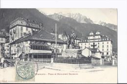 Chamonix. Place Et Monument Saussure. Charrette à Bras - Chamonix-Mont-Blanc