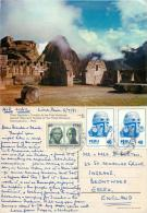 Macchu Picchu, Peru Postcard Posted 1981 Stamp - Peru