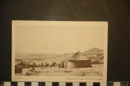 CP, Afrique, Lesotho, Lessouto Bassoutos En Voyage Arrivant Dans Un Village N °14 Edition Depot Du Livres Morija - Lesotho