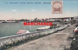 Bermudes Bermuda S S Bermudian Leaving Hamilton Harbour éditeur Phoenix Drug Hamilton - Bermudes