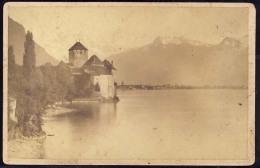 CARDBOARD PHOTO  SUISSE   SWITZERLAND  CHILLON AM GENFER SEE  16,5  X 11  Cm - Lieux