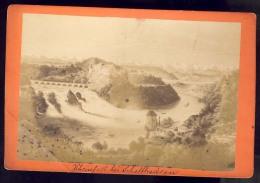 CARDBOARD PHOTO  SUISSE   SWITZERLAND   RHEINFALL BEI SCHAFFHAUSEN     16,5  X 11  Cm - Lieux