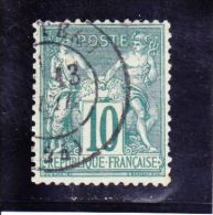 76   -  10 C - 1876-1898 Sage (Type II)