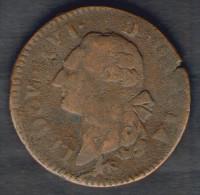FRANCE - Louis XVI - Sol De Bronze (1781) - LYON - 987-1789 Monete Reali