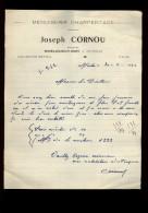 29 - MOËLAN-SUR-MER - Facture De Joseph CORNU - Menuiserie Charpentage - Kergroës - Petits Métiers