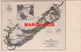 Bermudes Bermuda Plan De L Ile Des Antilles éditeur J H Bradley Hamilton - Bermudes