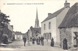 GUENROUET   ARRIVEE PAR LA ROUTE DE GRACE-TRES BELLE CARTE ANIMEE - Guenrouet