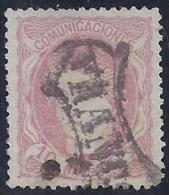"ESPAÑA 1870 - Edifil #105 Marca ""FRANCO"" Prefilatelica - VFU - 1868-70 Provisional Government"