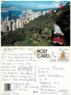 Peak Tramway, Hong Kong Postcard Posted 2001 Stamp - China (Hong Kong)