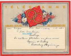 Télégramme Ancien Du Grand Duché Du Luxembourg - Déposé à L?????? En 1949 - Noces à BASCHARAGE - Voir Famille - Luxembourg