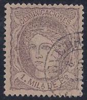ESPAÑA 1870 - Edifil #102 - VFU - 1868-70 Provisional Government