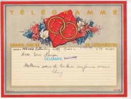 Télégramme Ancien Du Grand Duché Du Luxembourg - Déposé à BETTEMBOURG En 1949 - Noces à BASCHARAGE - Voir Famille - Luxembourg
