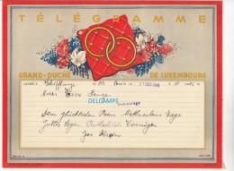 Télégramme Ancien Du Grand Duché Du Luxembourg - Déposé à SCHIFFLANGE En 1949 - Noces à BASCHARAGE - Voir Famille - Luxembourg