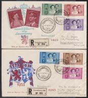 LUXEMBOURG  2 FDC.  1953  POUR LA FRANCE ET BELGIQUE  Réf  6821 - Luxembourg