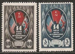 Russia 1943 Nuovo** - Mi.909/10  Yv.915/6