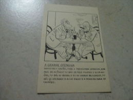 Postcard Carte Postale Churchill Roosvelt England USA  Propaganda Guerre WWII - Documents
