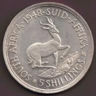 AFRIQUE DU SUD SOUTH AFRICA 5 SHILLINGS 1948 ARGENT SILVER - Sudáfrica