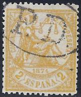 ESPAÑA 1874 - Edifil #143 Marca Francesa Payé Destination - 1873-74 Regencia