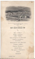 Menu   Du 15 Aout 1898 à Uriage - Menükarten