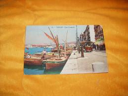 CARTE POSTALE ANCIENNE CIRCULEE DE 1924. / 13.- TOULON. QUAI CRONSTADT. / CARTES HELIA MOULLOT MARSEILLE. / CACHET. - Toulon