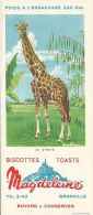 BUVARD 16349 MAGDELEINE ANIMAUX GLACE GIRAFE - Buvards, Protège-cahiers Illustrés