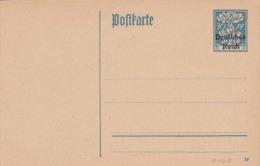 BAYERN - DEUTSCHES REICH - 30Pf ** Ganzsache Mit Überdruck Deutsches Reich Auf Pk - Allemagne