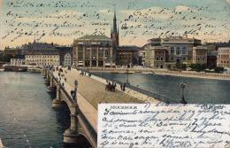 STOCKHOLM - Vasabron, Karte Gelaufen 1907 - Schweden