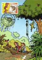 Belgium 1988 OBP 2302 Mi. 2354 MC CM Maximum Card, Jeugdfilatelie Philatélie Jeunesse, Comics Robbedoes Spirou, Franquin - Cartes-maximum (CM)