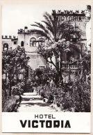 A6228-  Sicilia TAORMINA Hotel VICTORIA 1930s Vera Fotografia 1950s - Messina