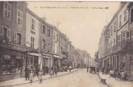 Cpa,1925,saone Et Loire,la Clayette,région Bourgogne,la Grande Rue,un Jour De Semaine,rue Commerçante,tabac,auto-ga Rage
