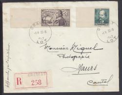 FR - 1942 - LOT -  LETTRE RECOMMANDE DE GRAMAT A DESTINATION DE MAURS - (cantal) - - 1921-1960: Moderne