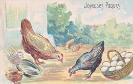 23803 -Joyeuses Paques -  Coq Poule Francais Poussin Oeuf -relief -  JC Paris - Pâques